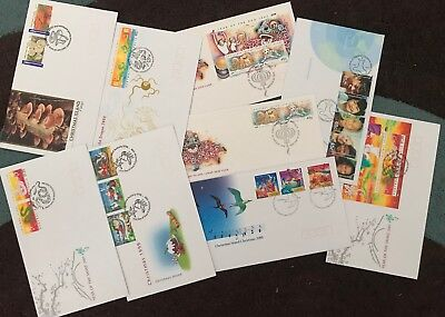 AUSTRALIA CHRISTMAS ISLAND COLLECTION FIRST DAY COVERS x 9