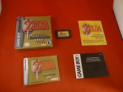Legend of Zelda: A Link to the Past Nintendo Game Boy Advance 2002 COMPLETE Box