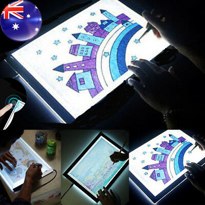 Adjustable Brightness A4 LED Stencil Board Drawing Tracing Light Box Pad Local