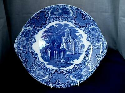 Late 19th c George Jones Blue & White Ware Platter/Cake Plate Abbey Pattern