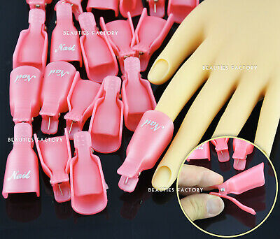 Reusable Nail Art Polish Artificial Nail Removal Soak Off Soaker x 20pcs 996
