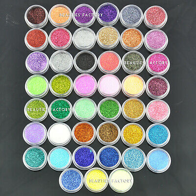 45 Color x Fine Nail Art Glitter Decoration Dust Powder Special Value Pack #598