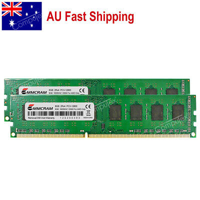 AU 16GB 2x8GB DDR3-1600 PC3-12800 240pin For Gigabyte Asrock Msi Asus AMD Memory