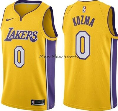 premium selection e1619 b37ea NEW KYLE KUZMA Los Angeles LAKERS Nike GOLD Icon Edition SWINGMAN Jersey  S-3XL