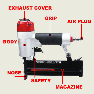 2in1 Air Brad Nail Gun Stapler Finish Nailer Pneumatic Finishing air tools-fence