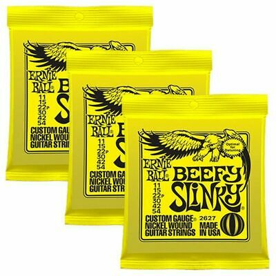 3 sets Ernie Ball 2627 Beefy  Electric Guitar Strings  11 - 54