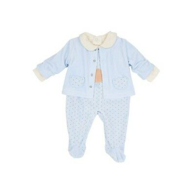 Beautiful Spanish Baby Boy / Baby Girl 3 Piece Velour Outfit / Set.