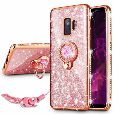 Bling Crystal Case Cover & Ring Stand For Samsung Galaxy S9/S8 /J3 2018 /J7 2018