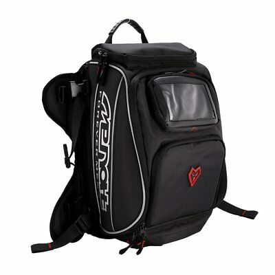 Motorcycle Black Sport Bike Riding Fuel Gas Tank Helmet Bag Backpack Waterproof