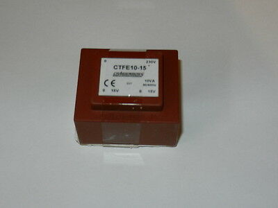 PCB MOUNTED TRANSFORMER  CTFE10-15 -  10VA 2x 15V  CAMDENBOSS - 1 PIECE