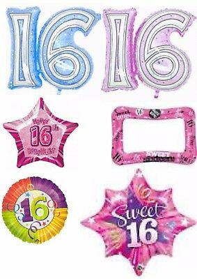 Happy 16th Birthday Sweet 16 Balloons Can Be Personalised Party Ware Decoration