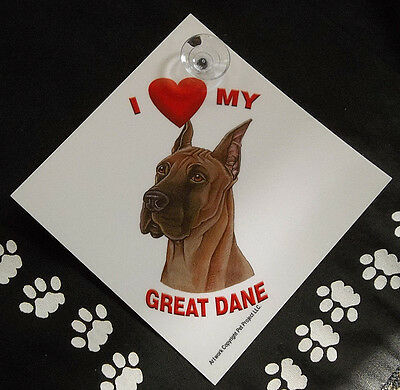 Great Dane Auto Decal