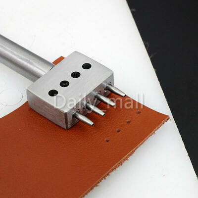 Leather Craft 1.0mm Round Row Hole Punch Stitching Cutter Tool 4 - 8mm Spacing