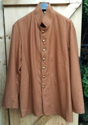 American civil war CSA Butternut wool enlisted sack coat size 50 chest repro new