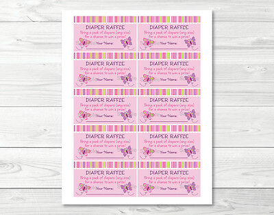 graphic relating to Free Printable Baby Shower Diaper Raffle Tickets titled Youngster Lady Red Butterfly Printable Little one Shower Diaper Raffle Tickets