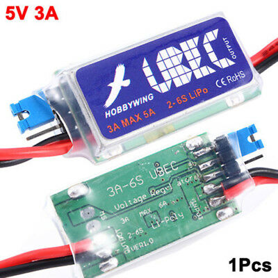 Universal RC Part Hobbywing 3A  Schaltermodus UBEC 5V 6V max 5A Lowest RF Noise
