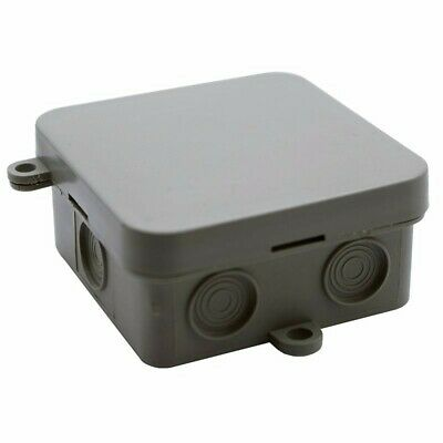 ESR 65mm IP44 Thermoplastic Junction Enclosure Box With 15 Amp & 5 Way Connector