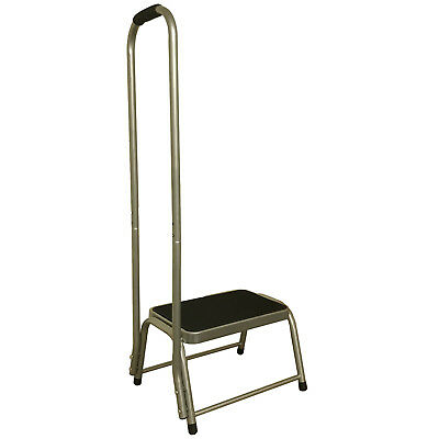 SINGLE CARAVAN STEP with SUPPORT HANDLE motorhome stool with handrail disabled