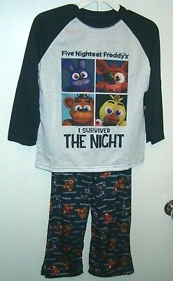 """Five Nights At Freddy's""""I Survived The Night"""" Pajama Set 6/7 - 8 - 10/12 -14 NWT"""