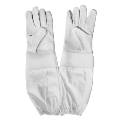 Beekeeping Gloves Long Sleeve Protective Made Of Goat Skin Leather White XXL