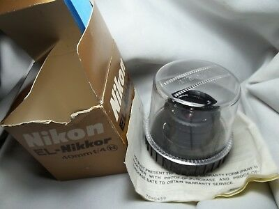 NIKON EL-NIKKOR 40mm f/4 N New Style boxed with blank warranty card