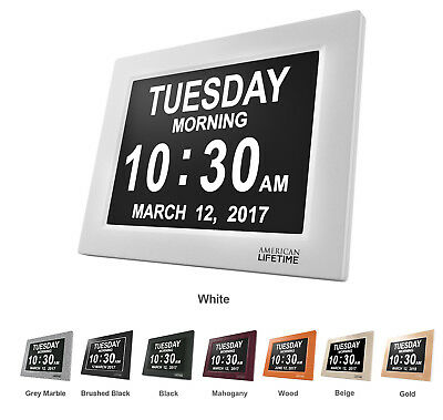 Day Clock - Extra Large Impaired Vision Digital Clock, Battery Backup & 5 Alarms
