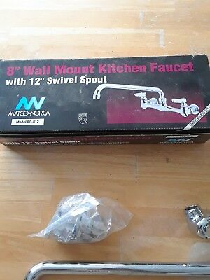 """MATCO/ NORCA Faucet Wall Mount 8 Inch Spout 6 Inch Kitchen / Bathroom """"New"""""""
