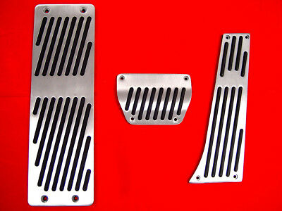 3PCS ///M Style Aluminum+Dead Racing Pedals Automatic AT For BMW E60/E53 / Z3/X5