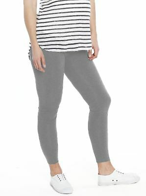 Maternity Foldable Waist Band Tight 7/8 Length Legging - Pigeon Grey
