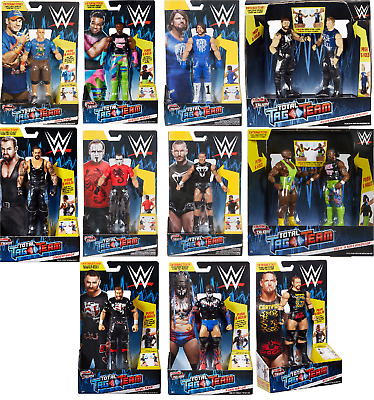WWE Figures - Tough Talkers Total Tag Team - Mattel - Brand New - Sealed