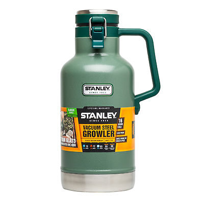 Stanley Classic Stainless Steel Vacuum Insulated Growler Beer Keg 1.9L Green