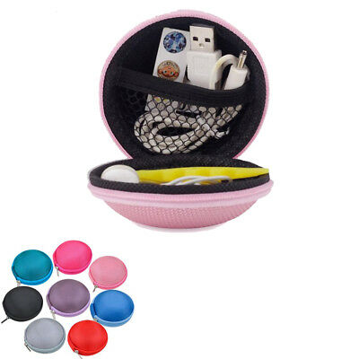 Portable Mini Hard Case Storage Bag Pouch For Earphone Headphone Earbuds SD TF