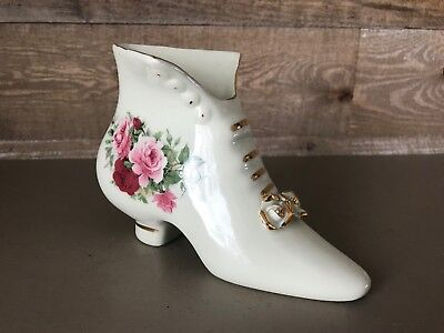 Formalities By Baum Bros Rare High Top Floral Boot Shoe Collectible