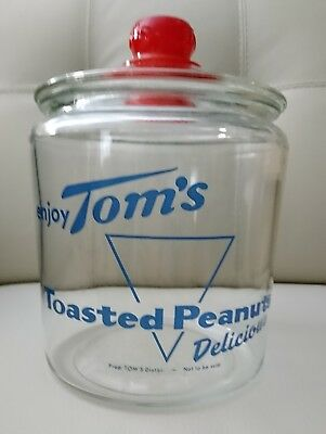 Tom's Toasted Peanuts Jar with Tom's Embossed Top
