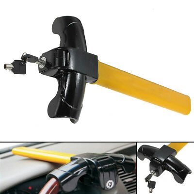 Universal Car Vehicle Steering Wheel Anti Theft Safety Lock Heavy Duty & 2 Keys
