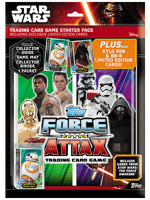 TOPPS STAR WARS The Force Awakens Force Attax Starter Pack