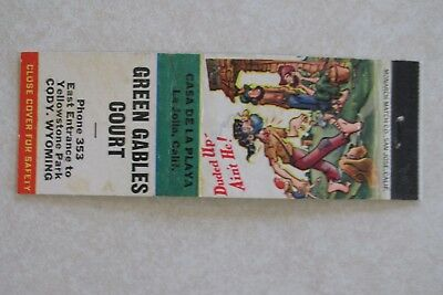 4a922850ab9 c506 Vintage Matchbook cover Green Gables Court Cody Wyoming WY hillbilly