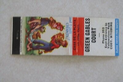 2c78a72703a c507 Vintage Matchbook cover Green Gables Court Cody Wyoming Wy hillbilly  Wyo