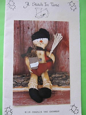 """ CHARLIE the SNOWMAN "" DOLL PATTERN by A Stitch In Time"