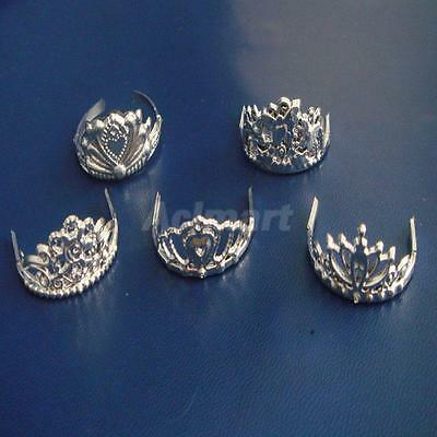 5pcs/Set Mix Pattern Crown Headpiece for Barbie Dolls Fashion Jewelry Set