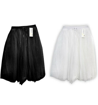 Ladies Deluxe 3 Layer 25 Inches Long Tutu Skirt Womens Sexy Fancy Party Skirt