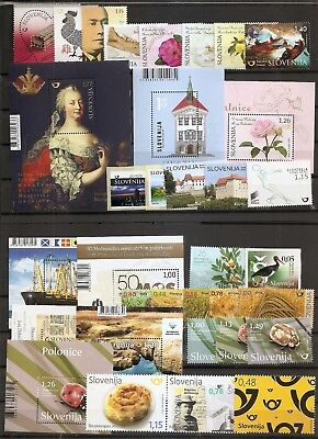 Slovenia,slowenien, 2017,complete Year,jahrgang,,aditional Stamps,mnh