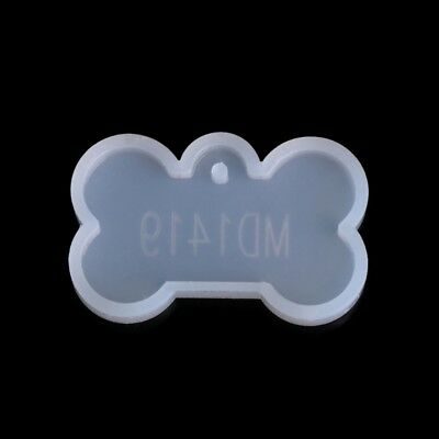 Dog Tag Silicone Mold Mould Epoxy Resin Jewelry Pendant DIY With Hanging Hole