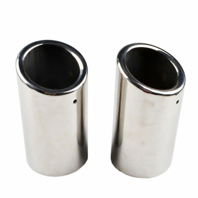2x Stainless Steel Exhaust Tail pipe Trim Tip Muffler for VW Scirocco Golf VI