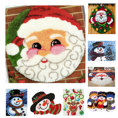 DIY Latch Hook Kit 7  models Needlecrafts Gift 21'' x 15'' Rug Cute Christmas