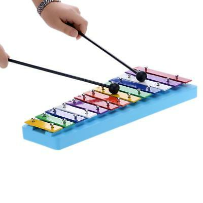 13 Bar Kid's Glockenspiel Xylophone Colorful Note of Educational Percussion M1P9