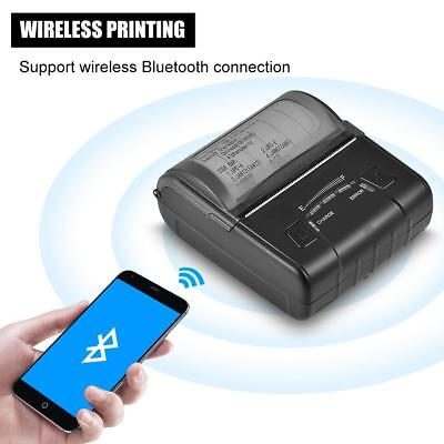 Mini 80MM Wireless Bluetooth USB Thermal Receipt Printer for Windows Android iOS
