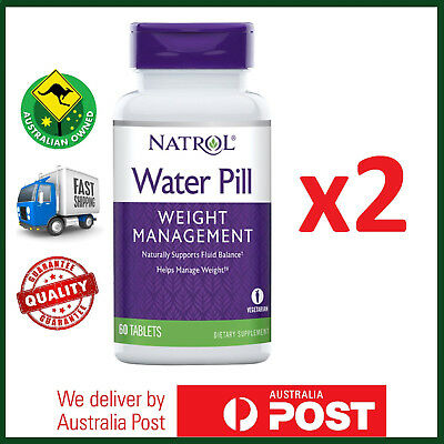 TWO BOTTLES: Natrol, Water Pill, 120 Tablets - Healthy Weight Management - VALUE