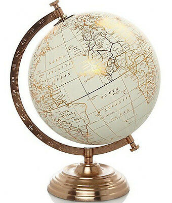 Vintage Retro Style Copper World Globe Ornament Home Decor Gift