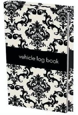 NEW Decorative Patterned Black & White Vehicle Log Book *FREE EXPRESS SHIPPING*